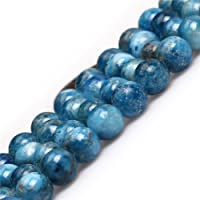 Joe Foreman Apatite Quartz Beads for Jewelry Making Natural Gemstone Semi Precious 8mm Round Blue 15""