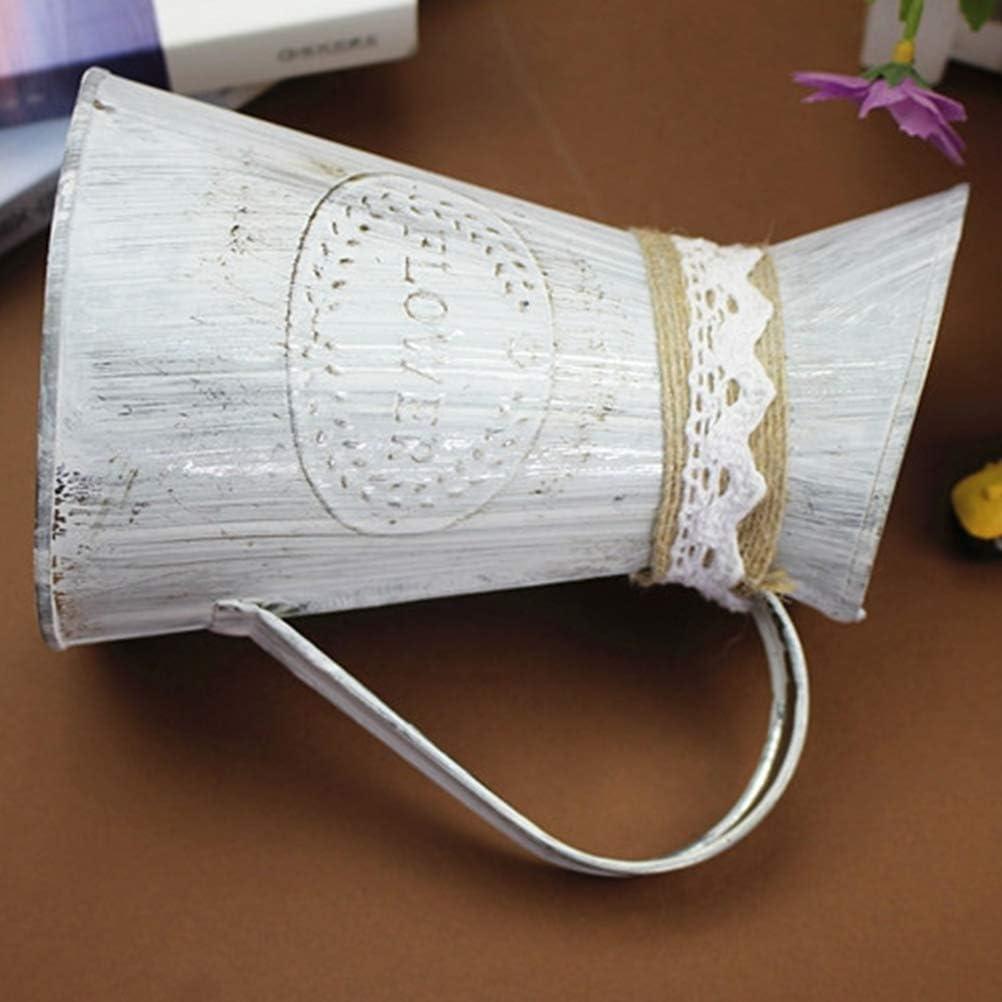 Vosarea 2 Pcs Pot De Fleurs en M/étal Vase /À Fleur en M/étal Arrosoir pour La D/écoration De La Maison Jardin Grand