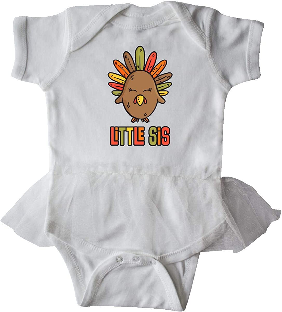 inktastic Cute Turkey My 1st Thanksgiving Infant Tutu Bodysuit
