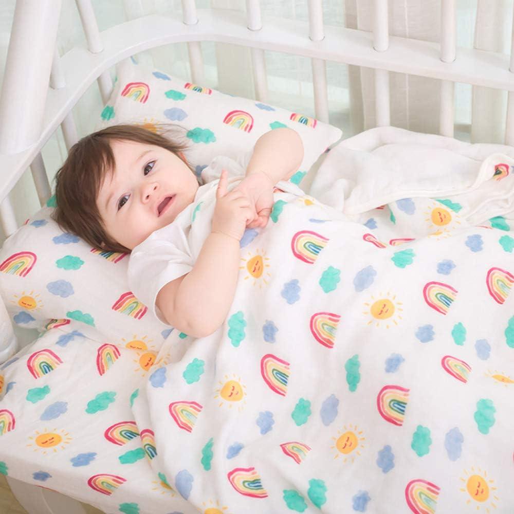 A rayas para ni/ños y ni/ñas de algod/ón org/ánico y transpirable Manta de muselina JYCRA para beb/é 120 x 120 cm algod/ón 120 x 120 cm