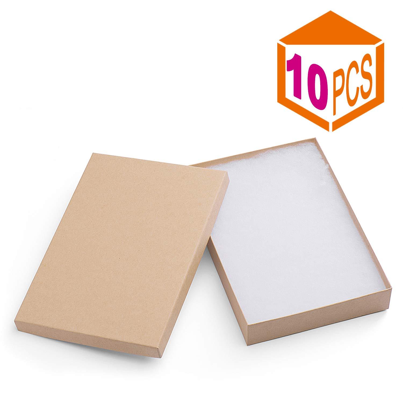 Amazon.com: MESHA Caja de papel de cartón para joyas y ...