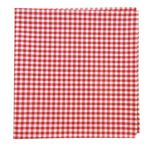 The Tie Bar 100% Cotton Red Novel Gingham Pocket (Red Gingham Pocket Square)