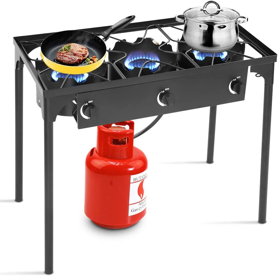 Outdoor Gas Boiling Ring Cast Iron Burner Camping Cooking Stove BBQ Gas Burners