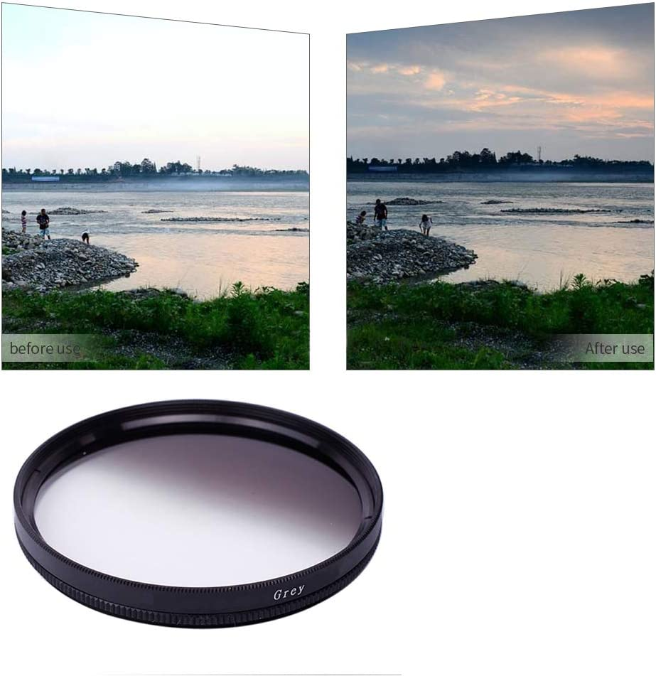 Yunchenghe Gray Gradient Filter for Canon Nikon Sony All Brands of 62mm Digital SLR Camera Lens