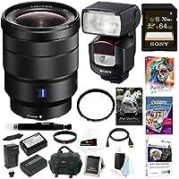 Sony 16-35mm E-Mount Lens, HVLF43M Digital Camera Flash Bundle Package