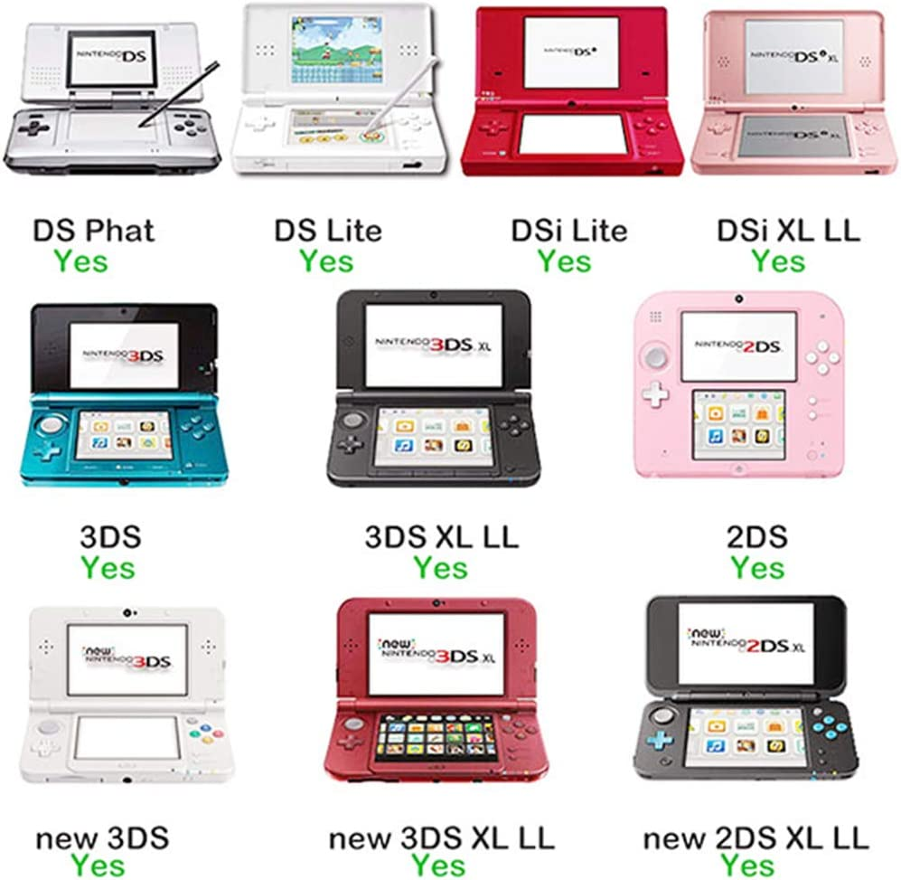 DS Games Card, 208 in 1 Cartridge Multicart. Compatible Nintendo DS, NDS, NDSL, 3DS, 2DS, XL LL, DS Lite.: Computers & Accessories