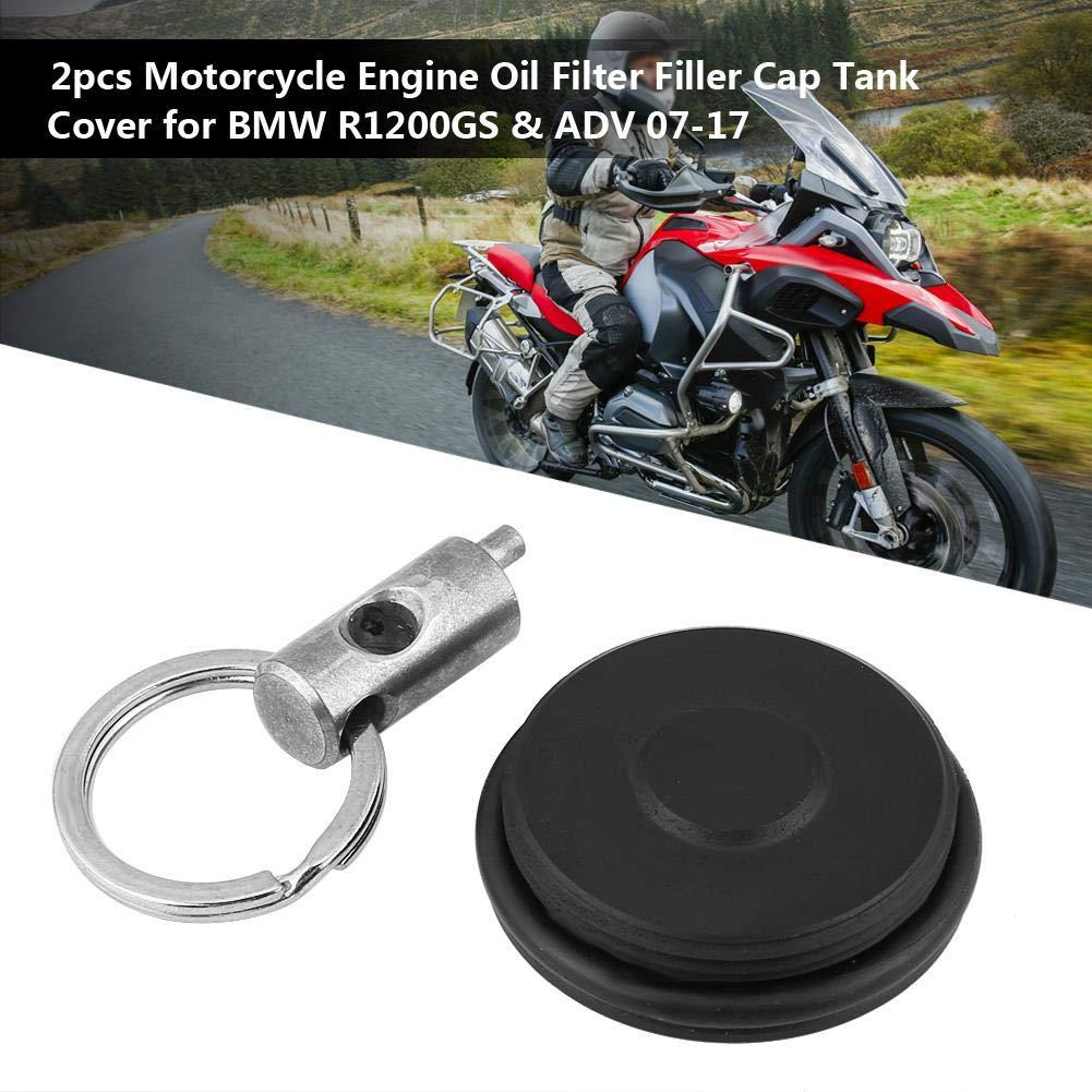 R1200 R//RT // S//ST Todos los modelos HP2 Enduro 05-08 R NINE T 2014-2017 Tapa del tanque Tap/ón del dep/ósito de aceite para R1200GS y ADV 07-17 KIMISS 2 x Tapas del aceite de la motocicleta