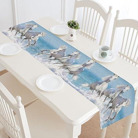 interestprint azul océano Wave camino de mesa decoración para el ...