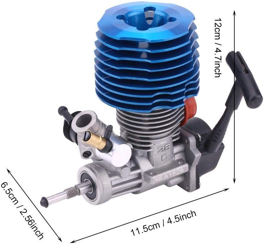 Dilwe Rc Motor 4 57cc 28 Seitlicher Auspuffstarter 33000 Rpm Motorzubehör Für 1 8 Rc Raupenfahrzeug Spielzeug