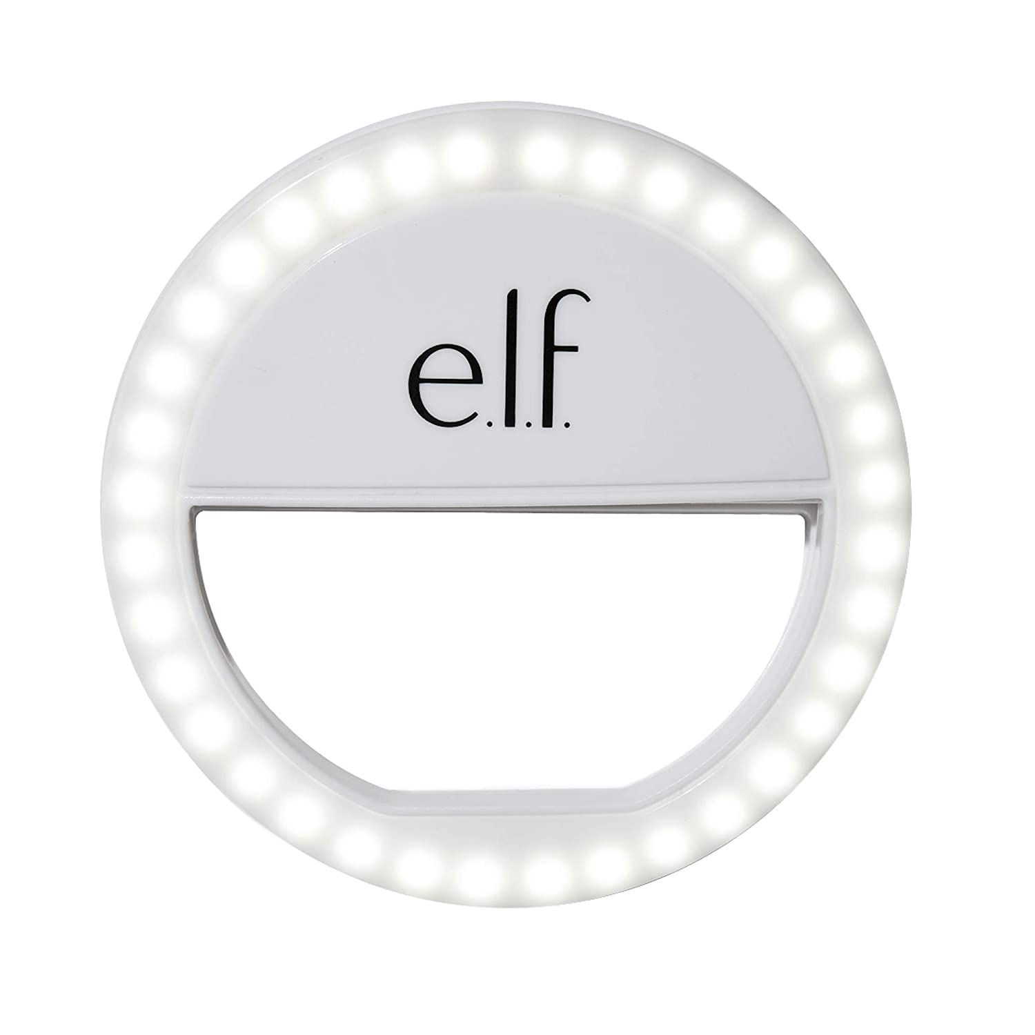 e.l.f, Glow On The Go Selfie Light, Ring Light for Phone, 36 Bulbs, 3 Brightness Levels, Illuminates, Highlights, Creates On-The-Go Photo Studio, 2x AAA Batteries Included
