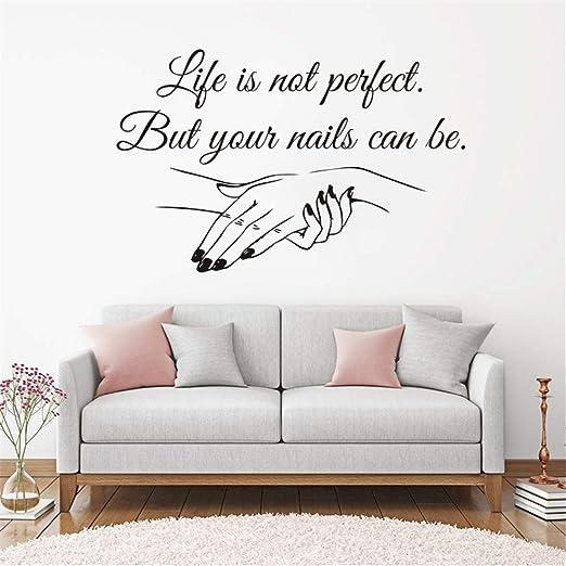 Amazon Com Room Wall Stickers Quotes Nail Salon Quote Nail Polish Beauty Salon Decoration Manicure For Nail Pub Home Kitchen