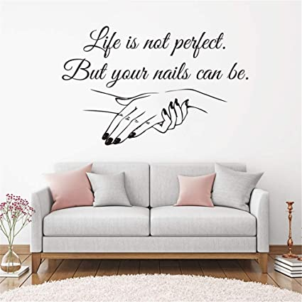 Amazon.com: Room Wall Stickers Quotes Nail Salon Quote Nail ...