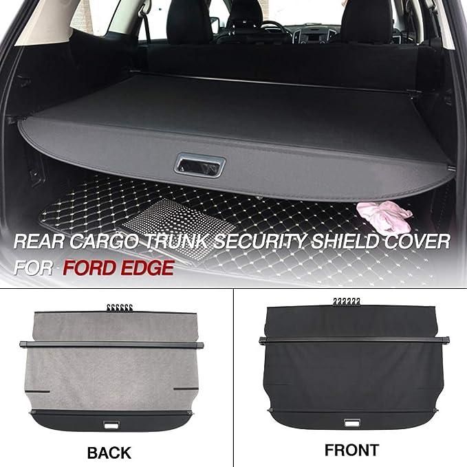 Cargo Cover for 2010-2017 Ford Edge Black Retractable Tonneau Anti-Theft Shield
