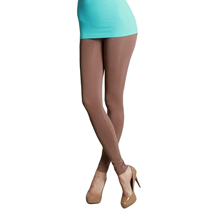 6f5a0087ca7040 Image Unavailable. Image not available for. Color: Nikibiki Ankle Length  Leggings Plain Jersey ...
