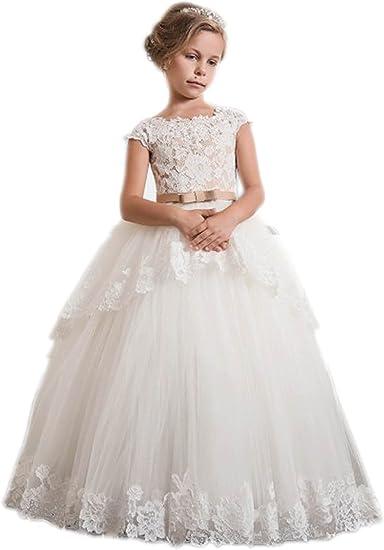 New Girl 1st Communion Christening Wedding Formal Party Dress white 6 7 8 8X 10
