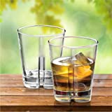 Treo By Milton Empire Cool Whiskey Glass, 325ml,Set of 2,Transparent2