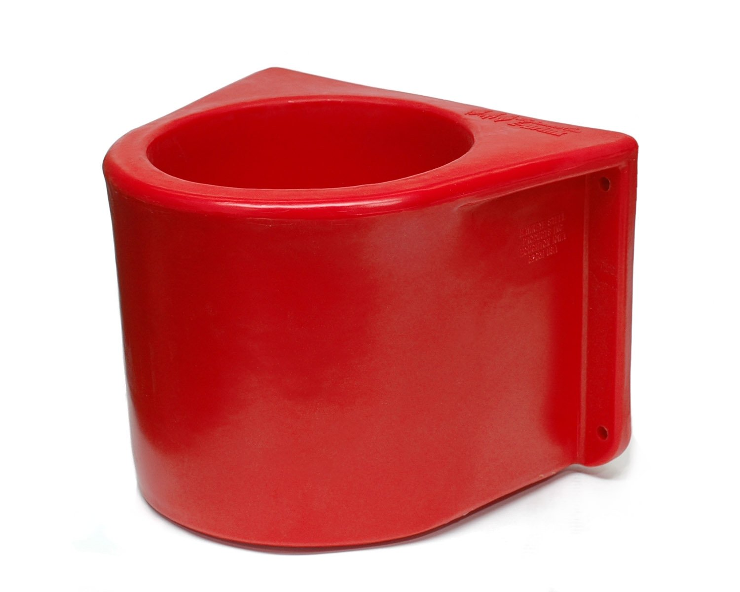 Brower MBH5RLB Insulated Red Horse Bucket Holder with Cover, without a Bucket Hawkeye Steel