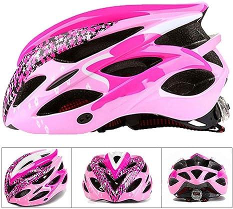 MXYMC - Casco para bicicleta de montaña con luz para mujeres y ...