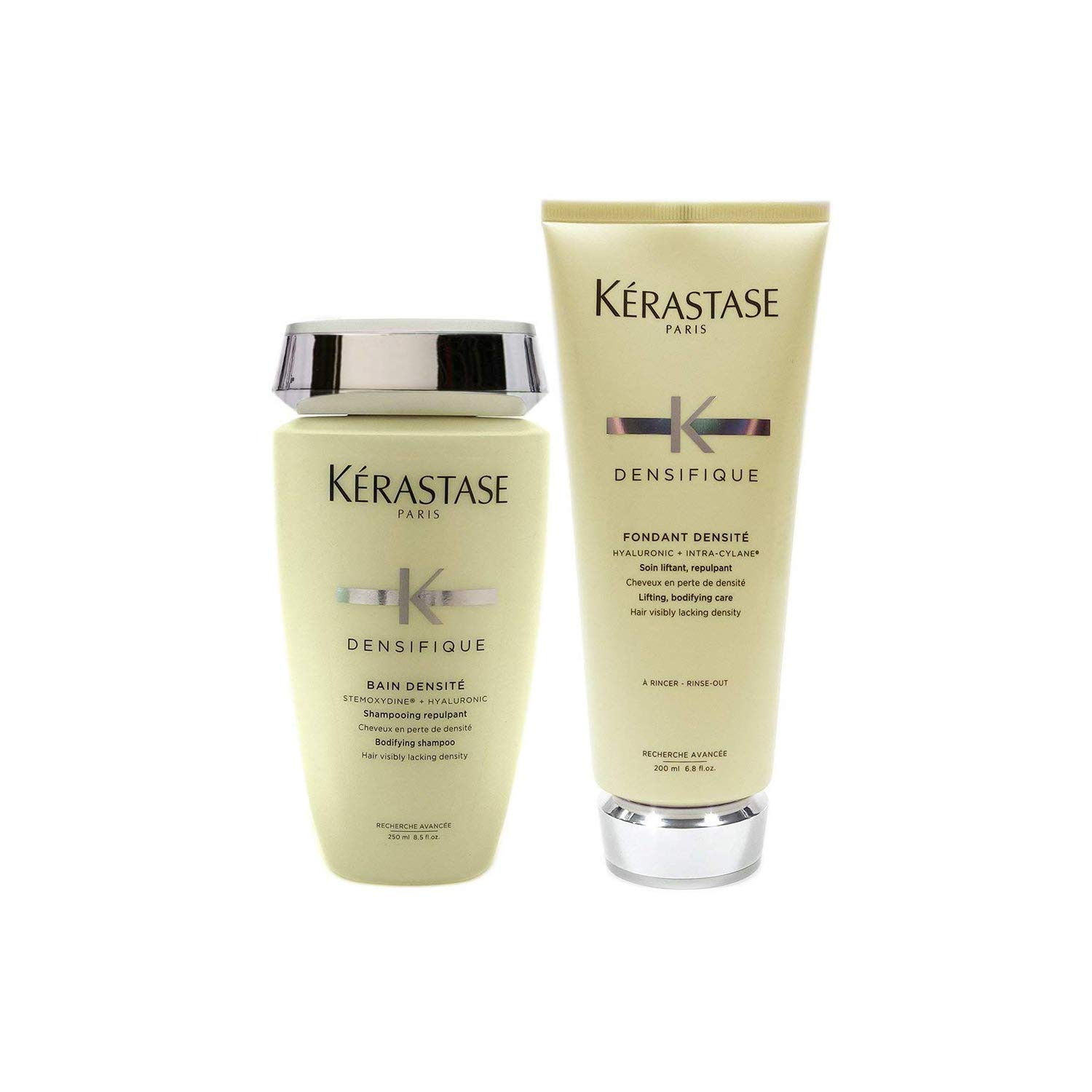 Kerastase Densifique Bain Densite 8.5 oz. and Fondant Densite 6.8 oz. Combo Pack by KERASTASE