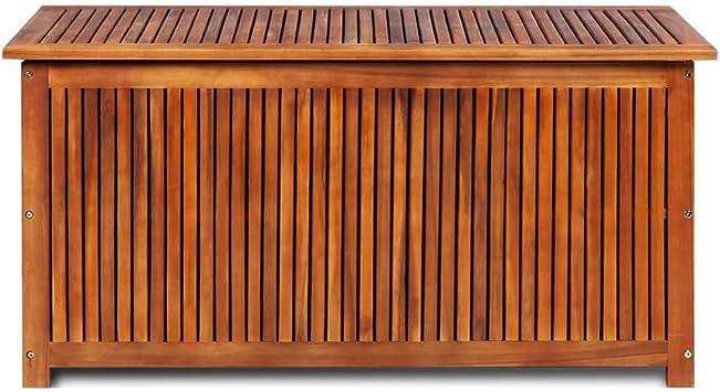 vidaXL Massello di Acacia Cassapanca da Esterno 117x50x58 cm Panca Contenitore