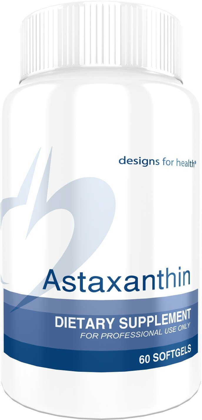 Designs for Health Natural Astaxanthin Softgels - 6mg Natural Microalgae Antioxidant, Solvent-Free (60 Softgels)