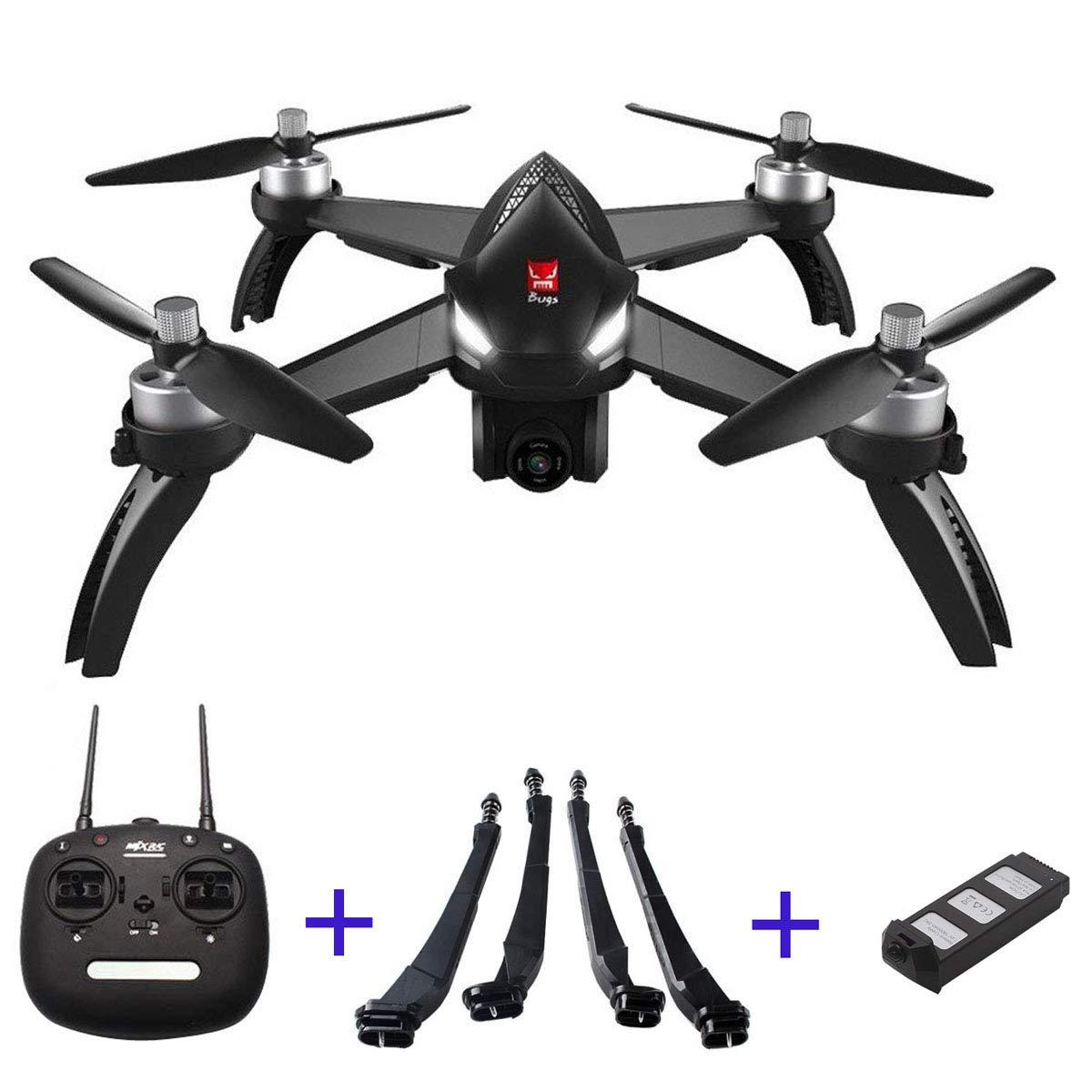 la red entera más baja B5w-1d Tanli MJX MJX MJX Bugs 5W B5W 1080P 5G WiFi FPV Cámara GPS RC Drone Quadcopter RC Drone con Soporte para cámara y 3 baterías  tienda de ventas outlet