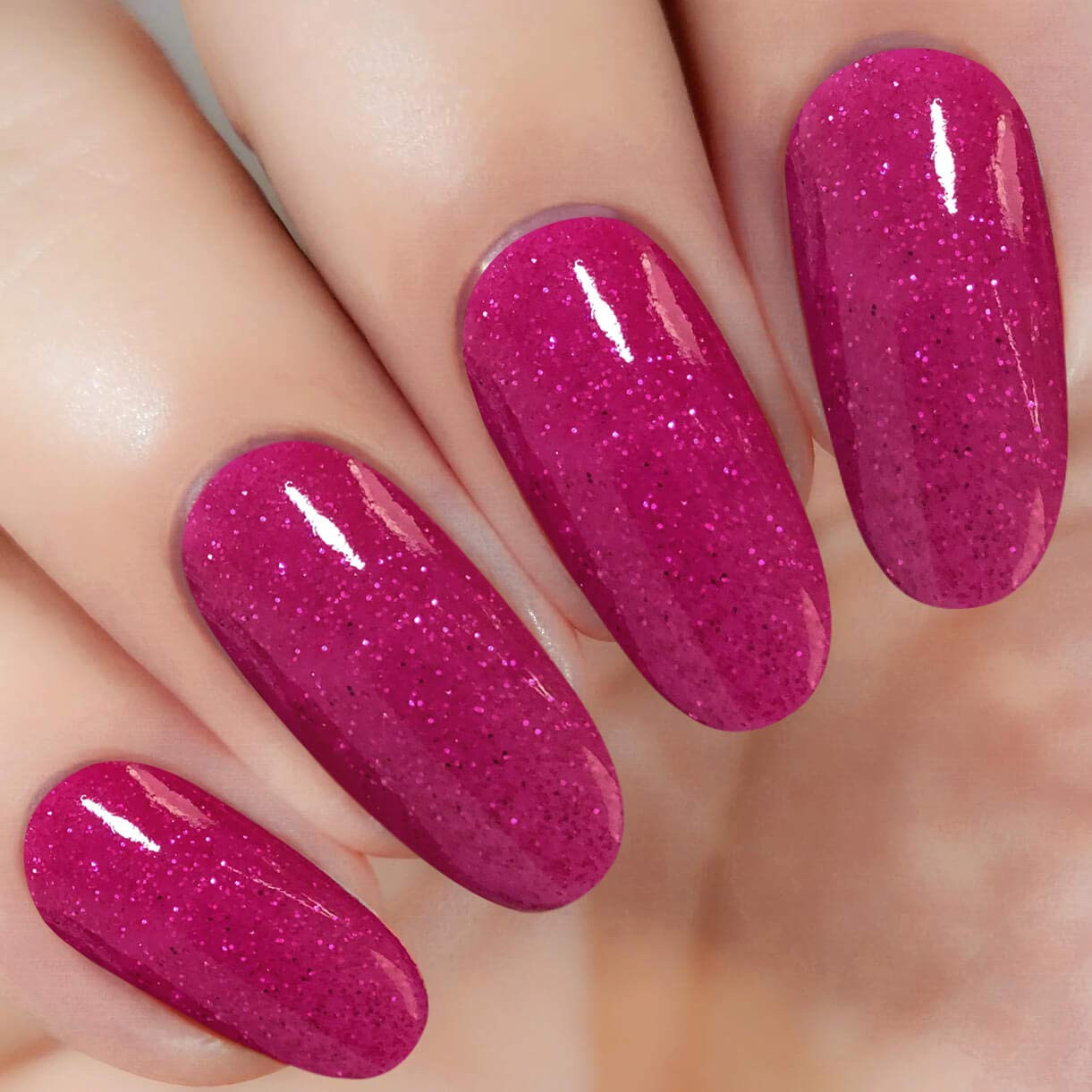 Red Sparkle Nail Dipping Powder (Added Vitamin) I.B.N Dipped Acrylic Dip Powder DIY Manicure Salon Home Use, 1 Ounce (DIP 045)