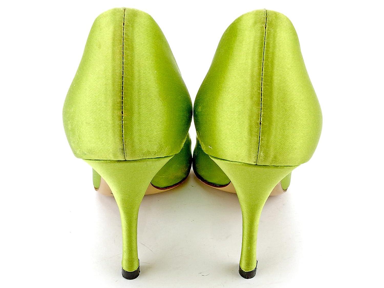 0978566d6e9d [プラダ] PRADA パンプス シューズ 靴 レディース 35ハーフ ハイヒール クロコ調切替え 中古 T5762 B0791FW1TR -パンプス.  メイン素材: サテン×型押しレザーサイズ: ...