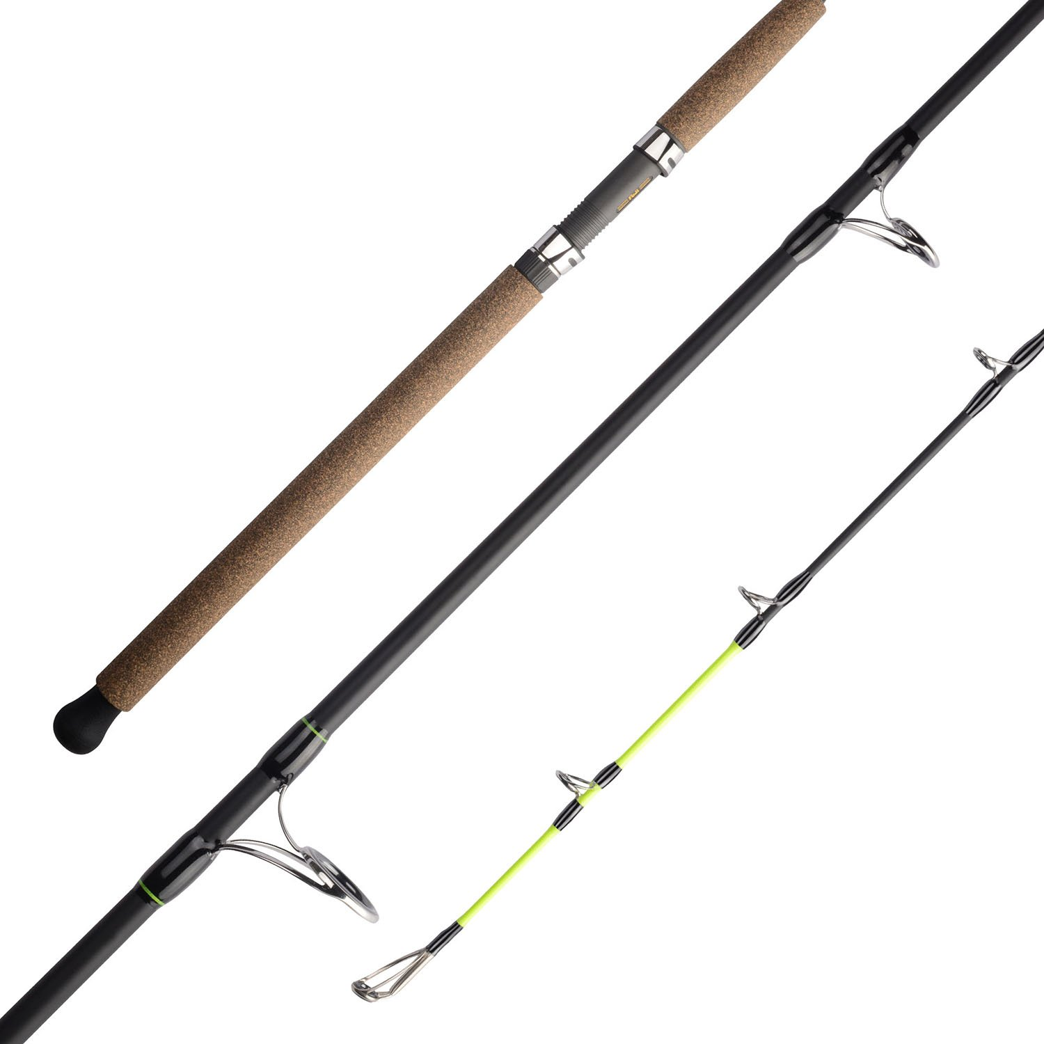 KastKing KatTech Catfish Rods, Powerful and Lightweight Graphite Composite Blank, Fuji Guides w SiC Rings, Fuji Reels Seats, Custom Rubber Cork Handles, Chartreuse Strike Tips
