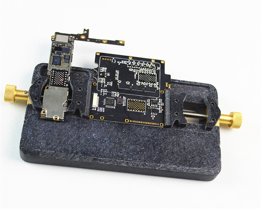 Vipfix High Heat Resistant Universal Phone Motherboard Test Fixture New Pcb Circuit Board Holder Repairing Repair Tool For Mobile With Bga Groove Iphone 4 5 6s 6sp 7 7p 8 8p X R Soldering
