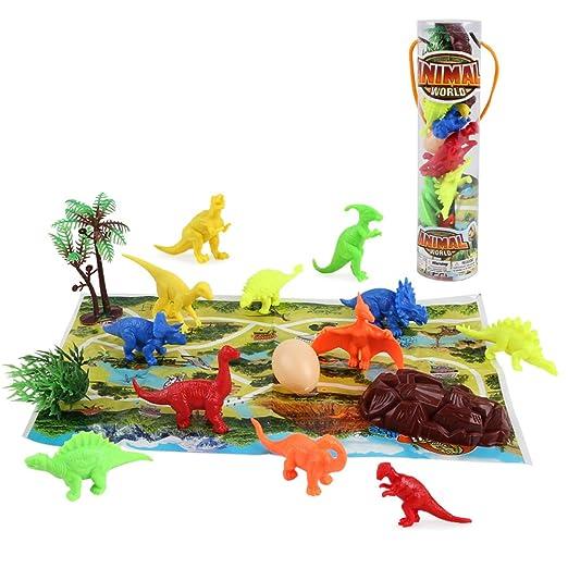 Baobë Mini dinosaurio juego de 17 piezas incluyendo un mapa ...