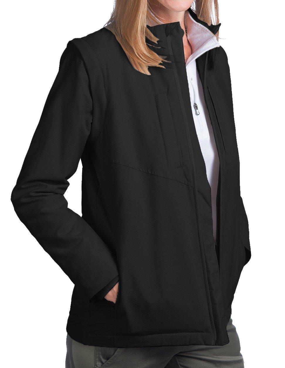 SCOTTeVEST Women's Standard Jacket - 25 Pockets - Travel Clothing (M3, Black) by SCOTTeVEST