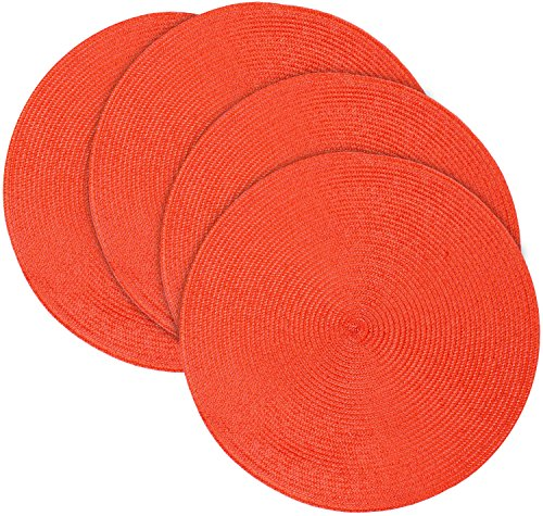 Brick Place Mats - Round Shape - Multi Color ...