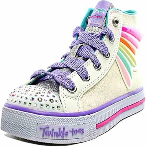 df7fc94194a5 Skechers Kids Womens Twinkle Toes - Shuffles 10707L Lights (Little Kid Big  Kid)