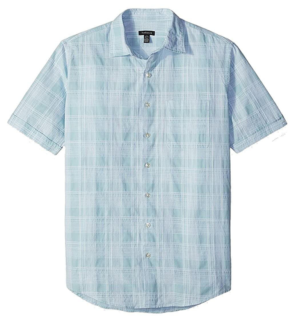4ceb2ff02eb Men s Van Heusen Classic Fit Patterned Short Sleeve Shirt at Amazon Men s  Clothing store