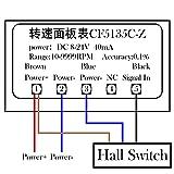 uniquegoods LED 4 Digital Tachometer RPM Gauge
