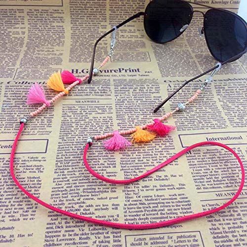 (Women Acrylic Beads Chain Tassel Sunglasses Chains Necklace Reading Glasses Cord Holder Neck Strap Rope for)