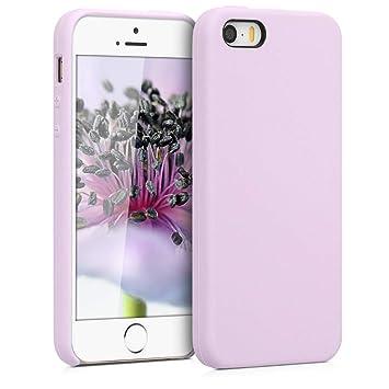 kwmobile Funda para Apple iPhone SE / 5 / 5S - Carcasa de [TPU] para teléfono móvil - Cover [Trasero] en [Malva Pastel]