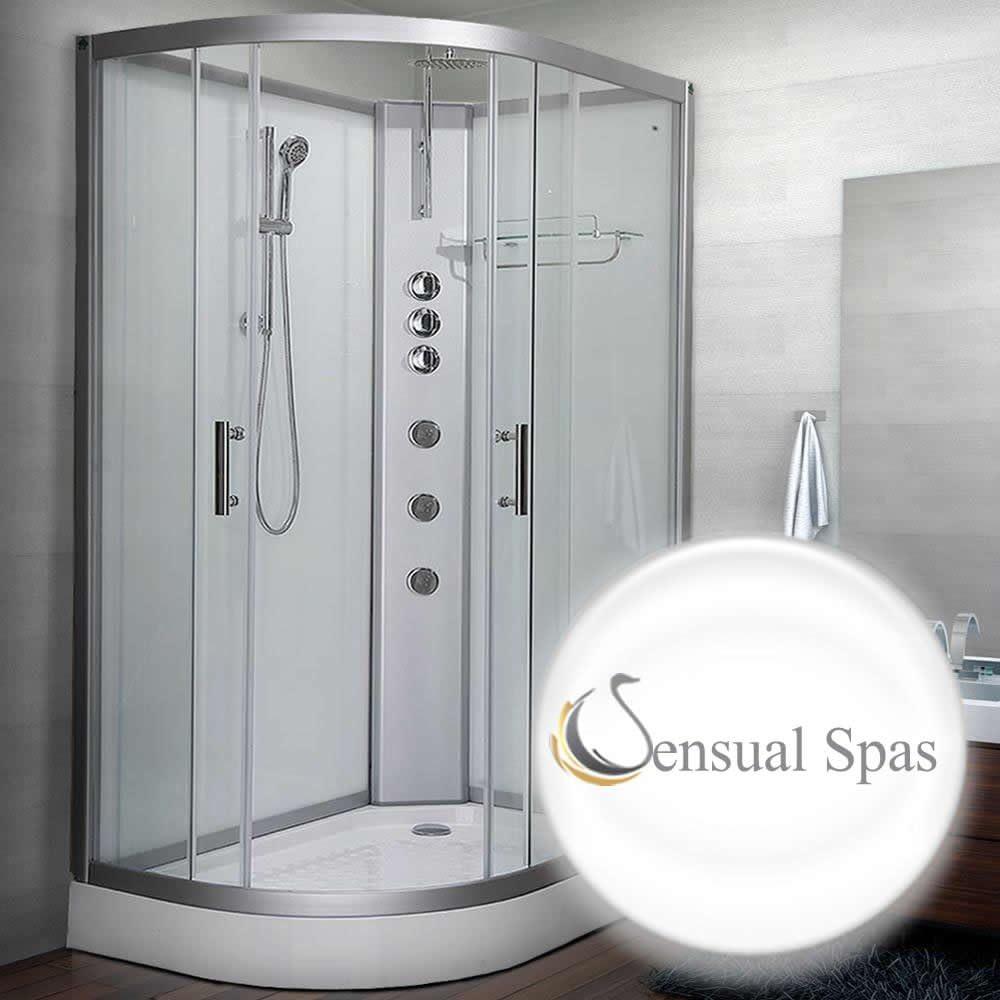 Sensual Spas Pure 1200 derecho blanco cabina de ducha 1200 x 800 ...