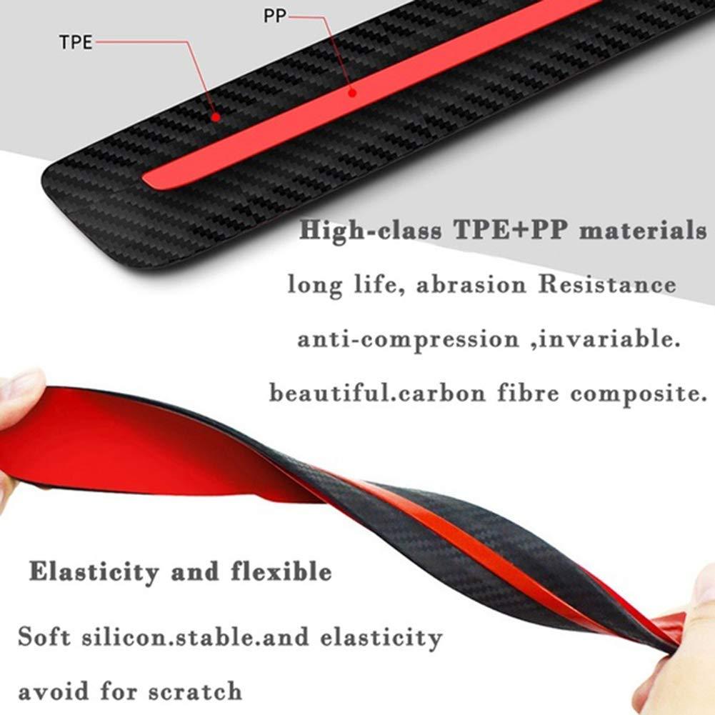 Fliyeong 2PCS Universal Anti-Collision Patch Car Bumper Guard Strip Anti-Scratch Bumper Protector Creative and Useful