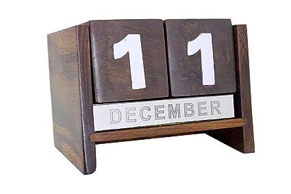 Aps Craft Wooden Never Ending Date Calendar For Office Desk Amazon