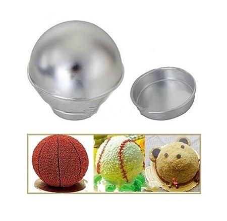 sans précédent classcic profiter du prix de liquidation 3D Sport aluminium boule Sphère moule de gâteau Ustensiles ...
