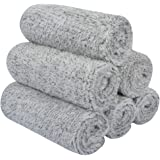 SINLAND Microfiber Face Towels Ultra Soft Bamboo Charcoal Facial Washcloths Face Cloth for Bath12Inch x 12Inch 6 Pack…