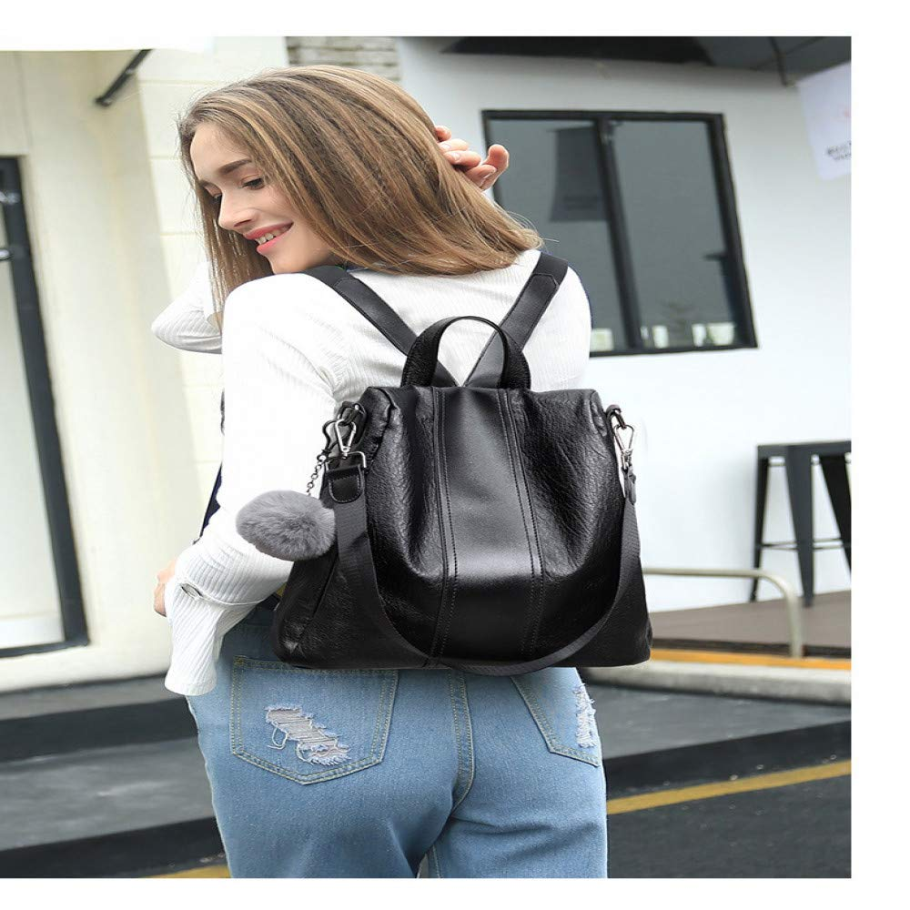 LFG Neue umhängetasche weibliche Leder weiches weiches weiches Rindsleder Mode Wilde Tasche multifunktions diebstahl Rucksack femalebags Frauen B07QL52GV3 Ruckscke Ausgezeichnet b22db5