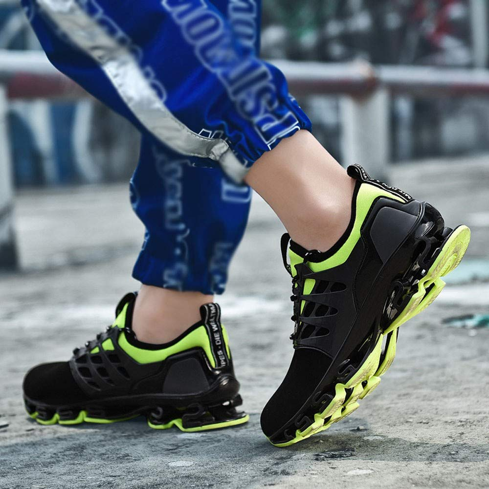 Mens Casual Sports Shoes Breathable Running Shoes Flying Woven Shoes RedBrowm