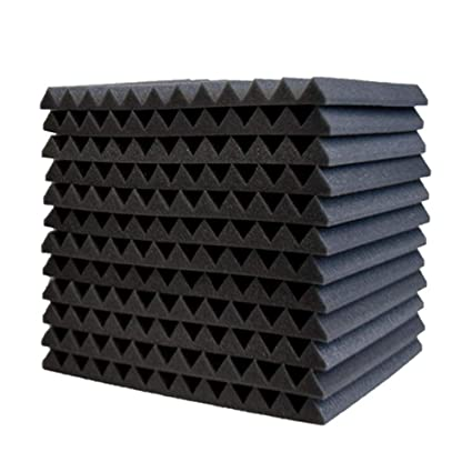 Surenhap 12Pcs Planchas de Espuma Acústica acústico de cuñas para Paneles acústicos de Aislamiento acústico, 30 * 30 * 2,5 cm
