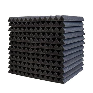 Surenhap 12Pcs Planchas de Espuma Acústica acústico de cuñas para Paneles acústicos de Aislamiento acústico, 30 * 30 * 2,5 cm: Amazon.es: Hogar