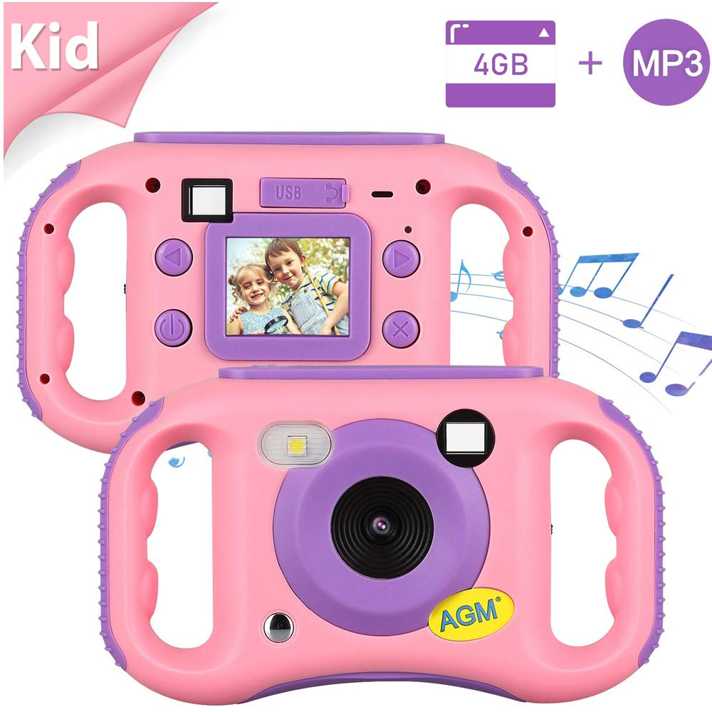 AGM Kids Camera for Girls & Boys, 1.77Inch Children Video Recorder Toddler Digital Camera,Creative Birthday Children's Day Gifts (Pink)