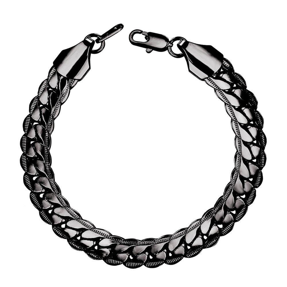 U7 Men Fashion Punk Rock 6MM-9MM 18K Stamp Gold Plated Link Bracelet , 8.3 U7 Jewelry U7 H739K
