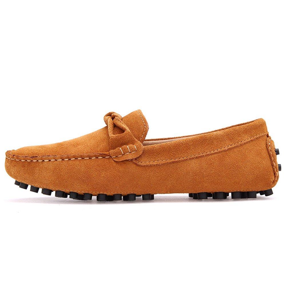 Xiaojuan-shoes, Mocassins en Cuir véritable pour Hommes Penny Mocassins en Daim (Color : Marine, Taille : 38 EU)